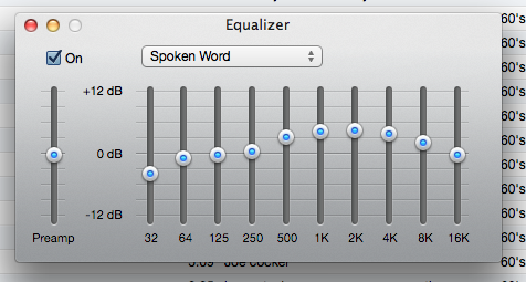 Spoken Word Equalizer iTunes