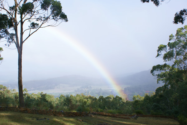 Rainbow at Mystic Rise. Photo by James Wild