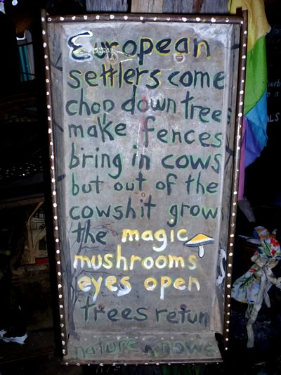 nimbin museum mushroom sign
